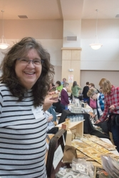 Robin Mouat at her vendor table