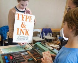 San Jose Printer's Guild printing demo