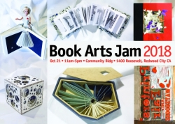 2018 Book Arts Jam Postcard