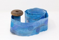 Blue Scroll on Spool - Lorraine Crowder
